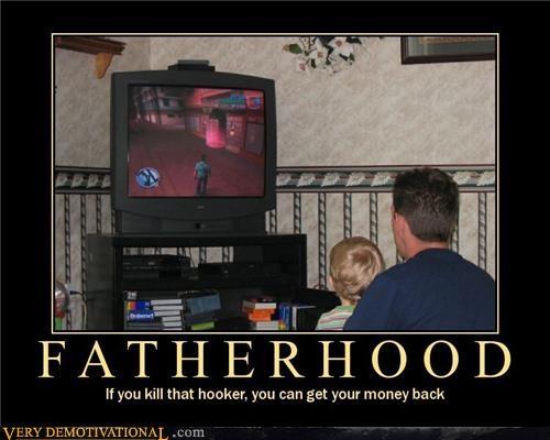 fatherhood good idea hilarious video games - 5198307328