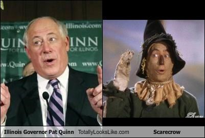 Governor,illinois,pat quinn,political,politics,scarecrow,wizard of oz