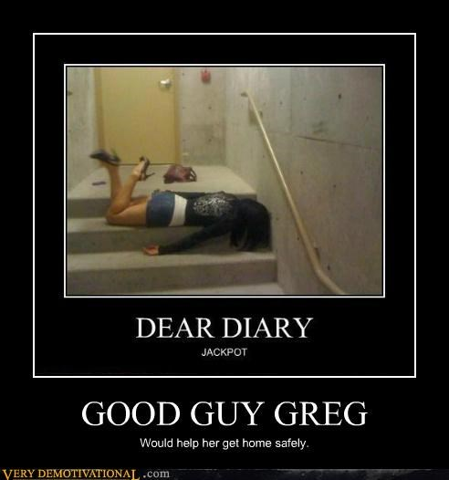 falling Good Guy Greg hilarious lady - 5198555136