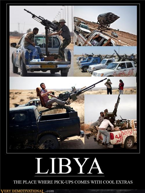 guns hilarious libya pickup truck - 5198589440