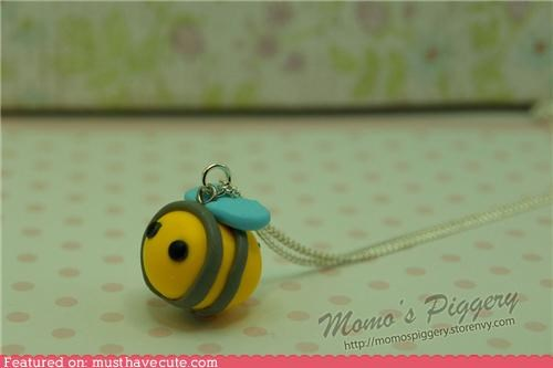 accessories bee Bumblebee clay Jewelry necklace - 5198712832