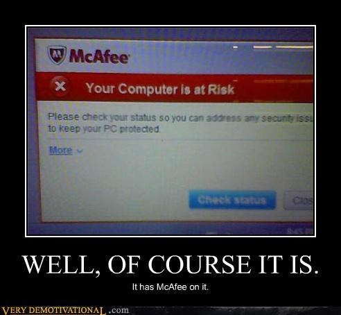 anti-virus,computer,hilarious,mcafee