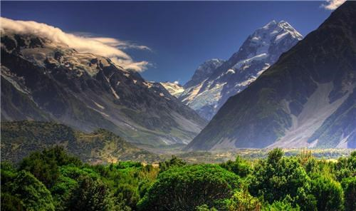 clouds getaways green Hall of Fame mountains new zealand snow user submitted valley - 5198809088