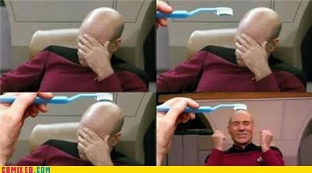 brushie brushie meme picard Star Trek - 5198915328