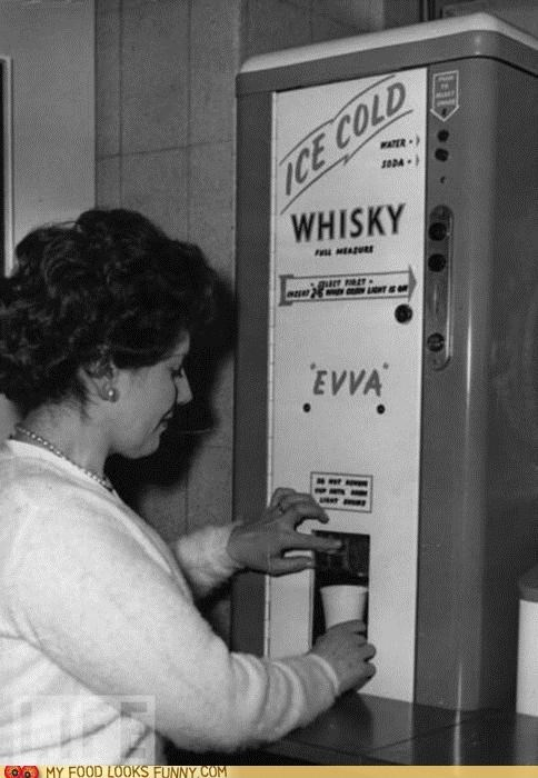 ice cold vending machine vintage whiskey