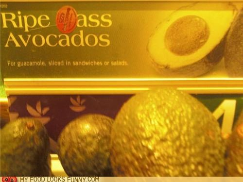ass avocados produce ripe sign sticker store - 5199081728
