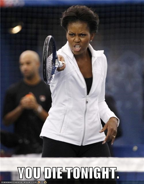 Michelle Obama political pictures tennis - 5199180288