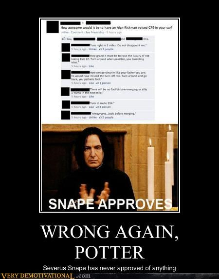 approve,Harry Potter,hilarious,Severus Snape