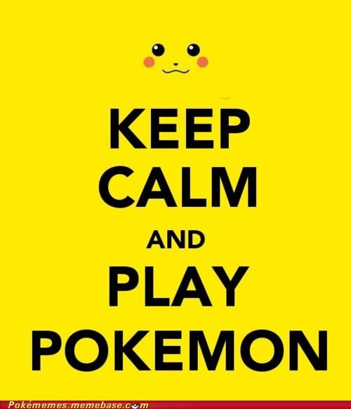 keep calm,keep calm and carry on,Memes,morale,pikachu,poster,world war 2