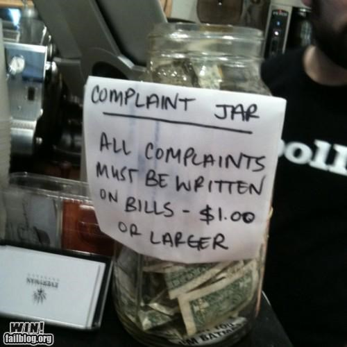 clever,complaints,customer service,restaurant,sign,store,tips