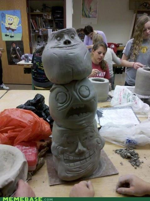 class IRL Rage Comics rage faces sculpture troll face - 5199324928