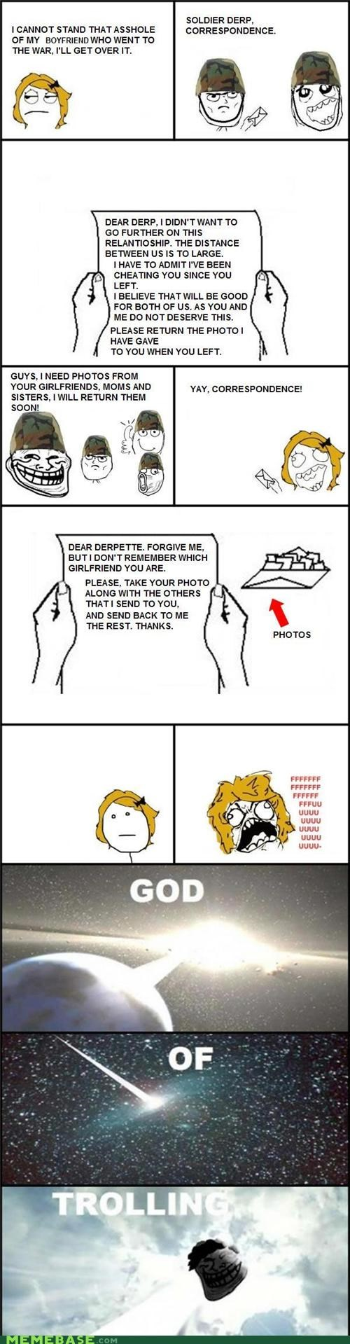 army break up mail photos Rage Comics - 5199325440