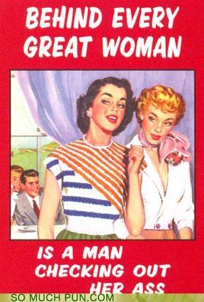 butt cliché great Hall of Fame man ogling poster slogan Staring twist woman - 5199400192