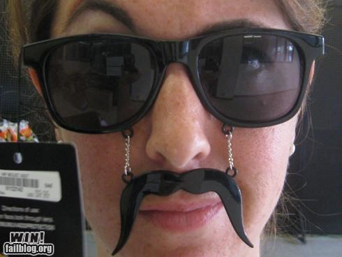 design fashion modification mustache Mustache Shades Combo sunglasses - 5199543808