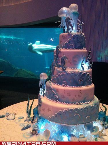 cake funny wedding photos Hall of Fame ocean sea wedding cake - 5199588864