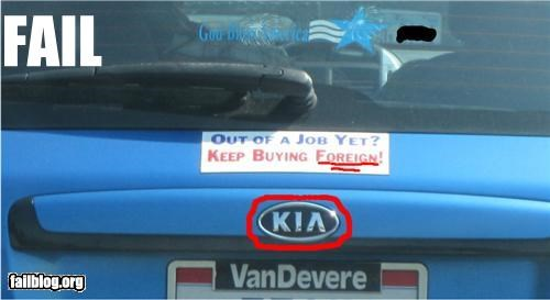 AMERRICA,bumper sticker,failboat,g rated,Hypocrisy,irony,Pundit Kitchen