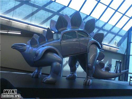 art dinosaur fossil fuels political sculpture stegosaur - 5199648768