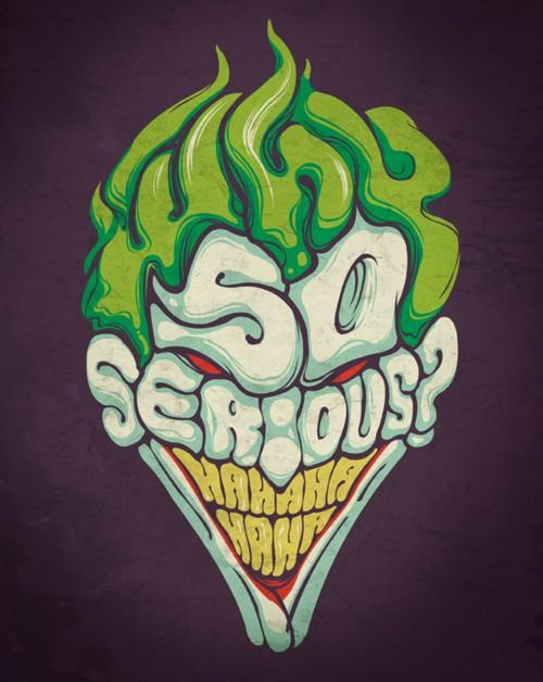 joker,merch,superheroes,tee of the day,tees,threadless,typography
