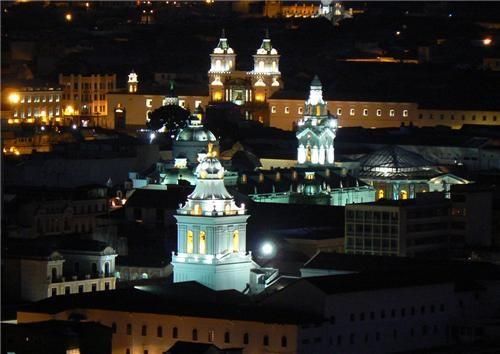 architecture,black,city,cityscape,ecuador,getaways,latin america,night,night photography,quito,south america,white