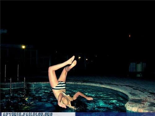 drinking,drunk,faceplant,fall,Perfect Timing,pool,unsafe