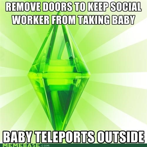 baby social workers teleportation The Sims video games wizard - 5199918080