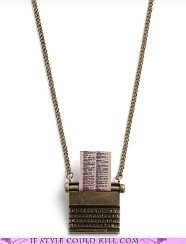 cool accessories necklaces typewriter - 5199935488