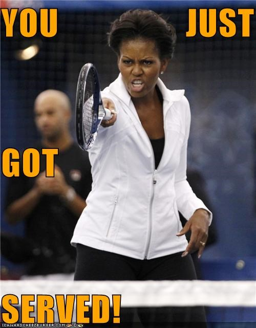 Michelle Obama political pictures tennis - 5199983872