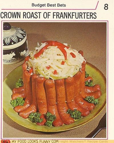 cabbage crown roast frankfurters hot dogs weenies wieners