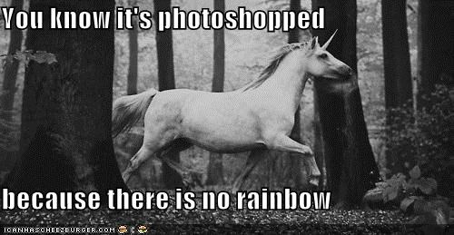 hipsterlulz,photoshop,rainbow,unicorn