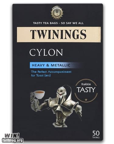 Battlestar Galactica breakfast Captain Picard cylon drink food make it so nerdgasm pop culture Star Trek tea - 5200131584