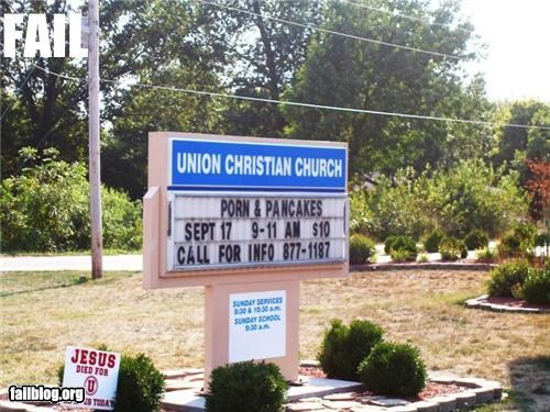 church signs failboat Hypocrisy innuendo religion wtf