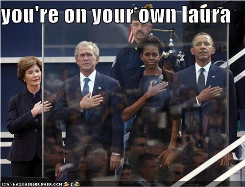 Bulletproof Glass george w bush Laura Bush Michelle Obama political pictures - 5200313344