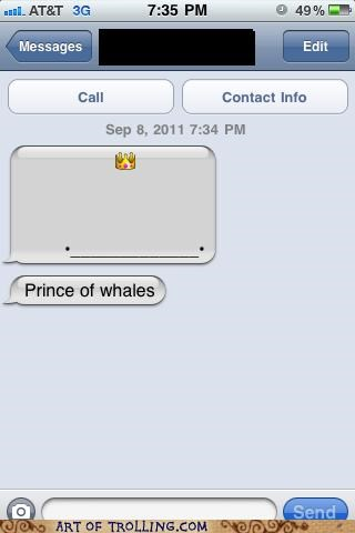 dumb prince text whale - 5201043968