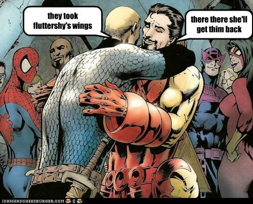 brony bros captain america hugs iron man Super-Lols - 5201133312