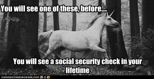 hipsterlulz,social security,unicorn