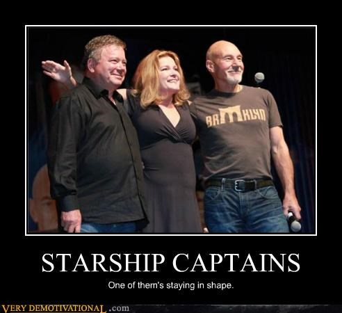 STARSHIP CAPTAINS One of them's staying in shape.