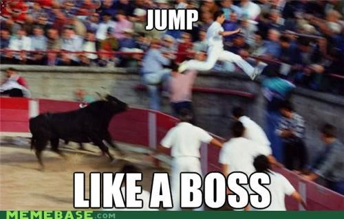 boss bullfighter jump Like a Boss ring Spain - 5201549056