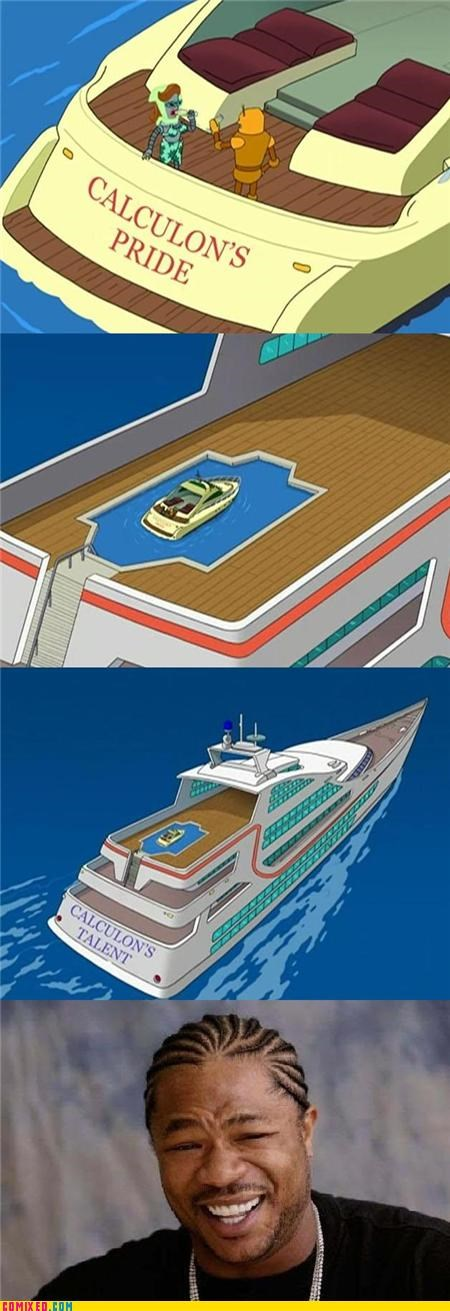 boat,cartoons,futurama,pool,xhibit,yo dawg