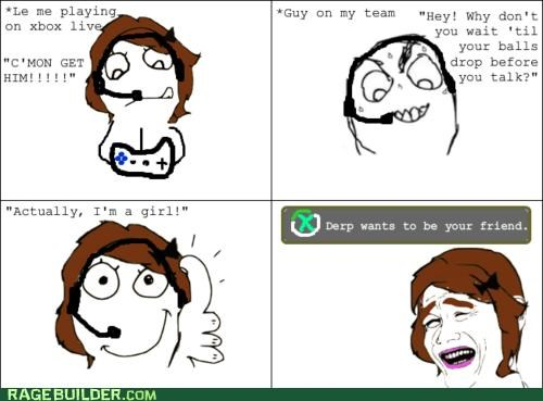 friend gamers girls Rage Comics - 5202014976