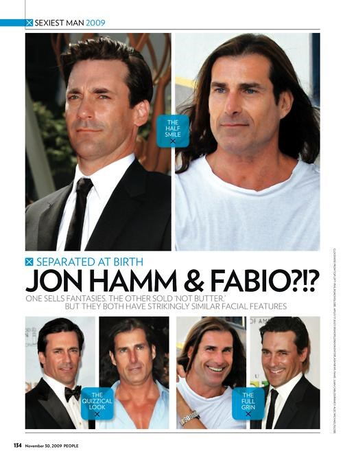 fabio,Jon Hamm,Separated At Birth,TLL,totally looks like