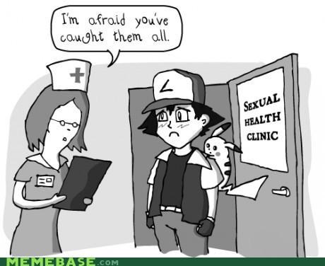 caught them all,comic,sad ash,sexual health,STD,the truth