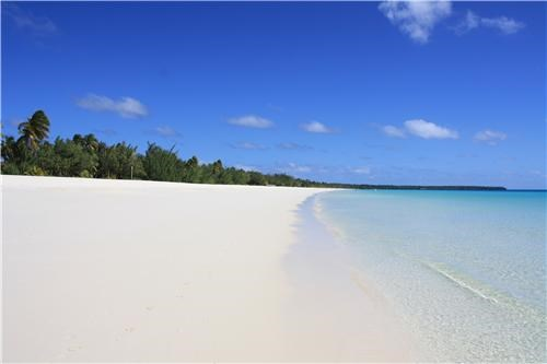 beach,blue,clouds,france,New Caledonia,ocean,serene,white sand,white sand beaches
