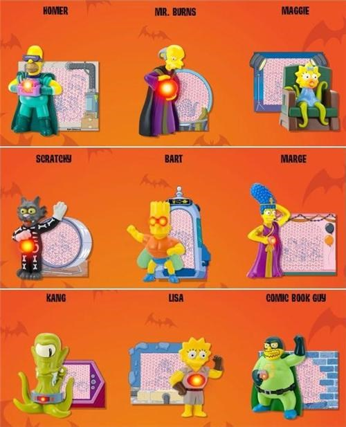 burger king Kids Meal Toys the simpsons treehouse of horror