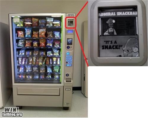 admiral ackbar,food,its a trap,nerdgasm,snack,star wars,trap,vending machine