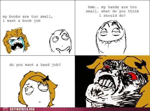 boob job comic Hall of Fame hand job rage comic - 5202409984
