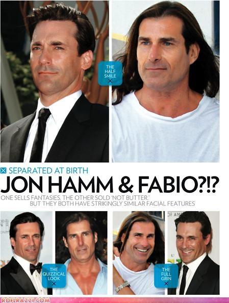 actor celeb fabio funny Jon Hamm lookalike TLL - 5202442240