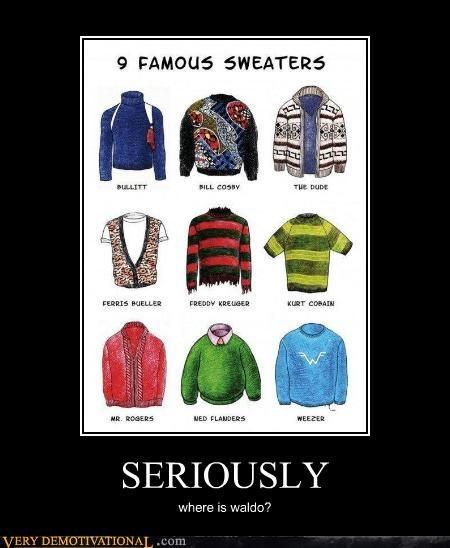 bill cosby bullet dude ferris buler hilarious sweaters waldo - 5202555648