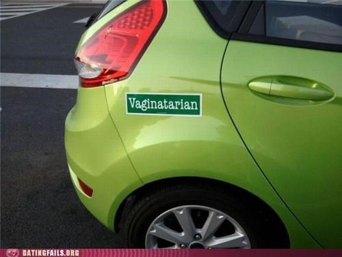 bumper sticker car eating out oral sex vaginatarian We Are Dating - 5202712064