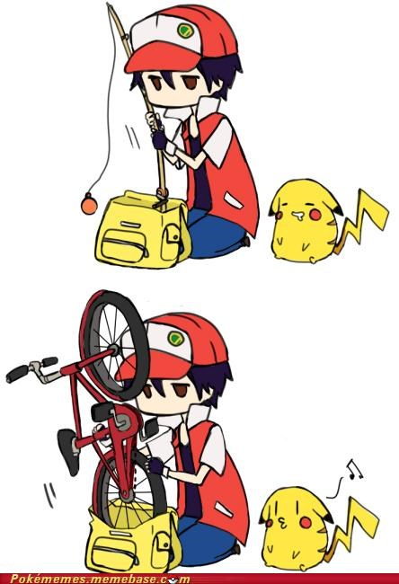 art,backpack,bike,pikachu,rod