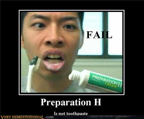 eww,gross,hilarious,preparation h,toothpaste